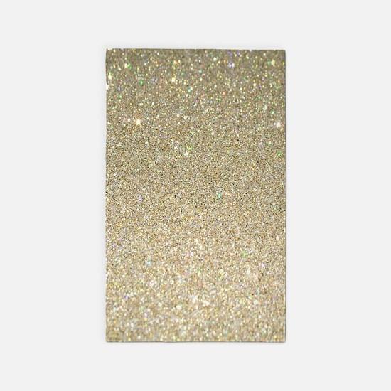 art deco gold glitter Area Rug