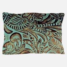 bohemian country western leather Pillow Case