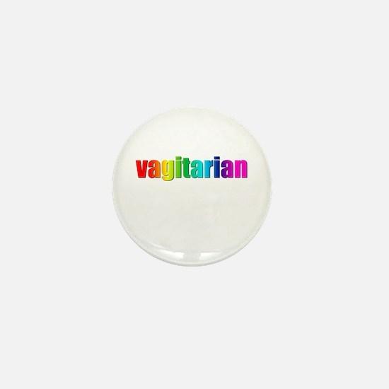 Vagitarian rainbow Mini Button