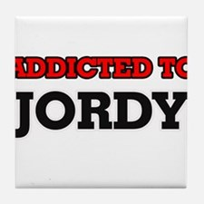 Addicted to Jordy Tile Coaster