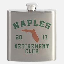 Funny Naples florida Flask