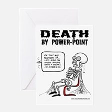 Death by Powerpoint 2 Greeting Card