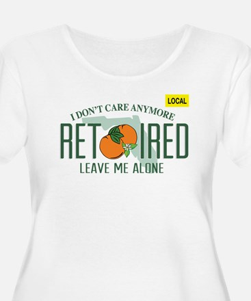 Funny Florida Retired License Pl Plus Size T-Shirt