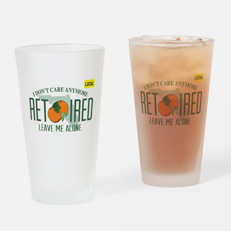 Funny Florida Retired License Plate Drinking Glass