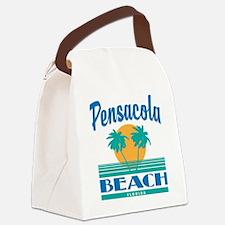 Cute Pensacola beach Canvas Lunch Bag