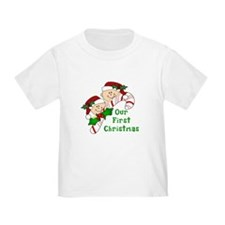 Twins First Christmas Candy Cane T
