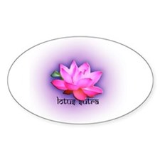 lotus sutra Oval Decal