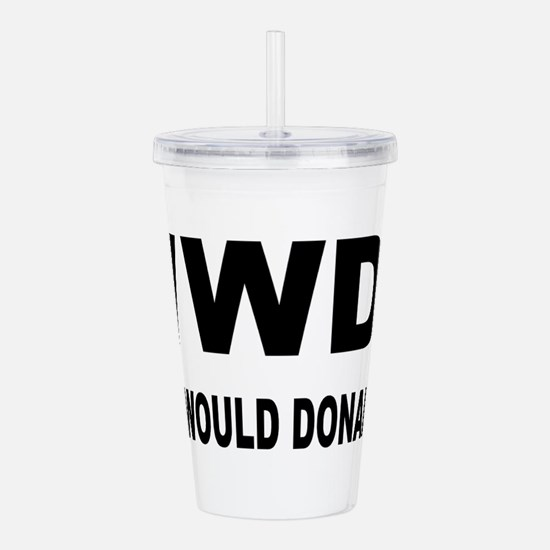 Cute What would Acrylic Double-wall Tumbler