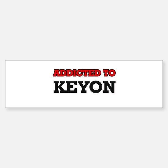 Addicted to Keyon Bumper Car Car Sticker