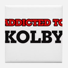 Addicted to Kolby Tile Coaster