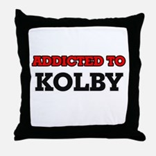 Addicted to Kolby Throw Pillow