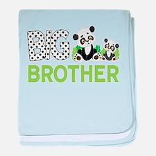 Big Brother Pandas baby blanket