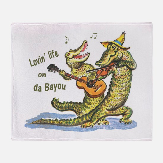 On da Bayou Throw Blanket