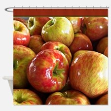 Red Ripe Apples Shower Curtain