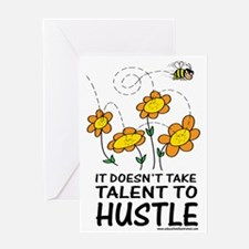 Talent to Hustle Greeting Card