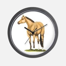 Tate, Buckskin Stallion Wall Clock