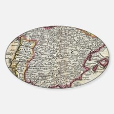 Funny Portuguese map Decal