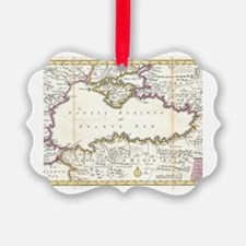 Unique Black history heart Ornament