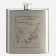 Unique Antique maps Flask