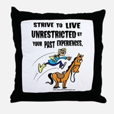 Live Unrestricted Throw Pillow