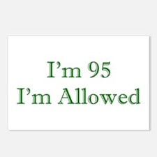 95 I'm Allowed 3 Green Postcards (Package of 8)