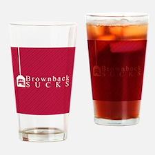 Brownback Sucks Drinking Glass