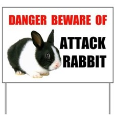 ATTACK RABBIT Yard Sign