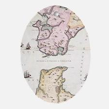 Cute Atlas Oval Ornament