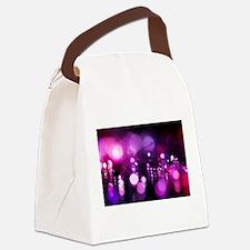Purple bokeh Canvas Lunch Bag