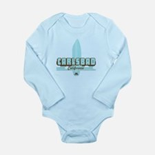 Carlsbad - California. Long Sleeve Infant Bodysuit