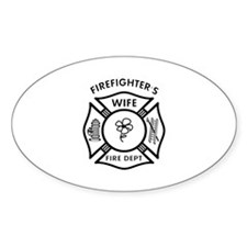 Firefighters Wife Oval Decal
