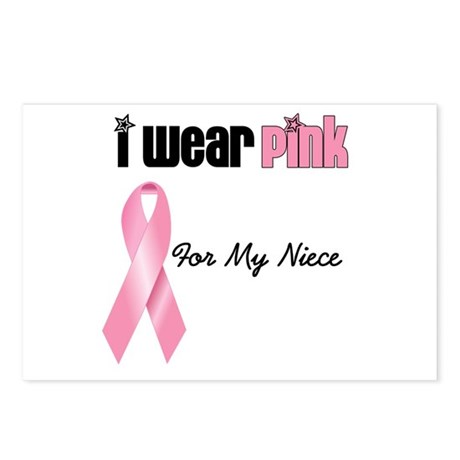 I Wear Pink (Niece) Postcards (Package of 8)