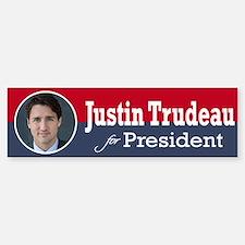 Justin Trudeau For President Bumper Bumper Stickers