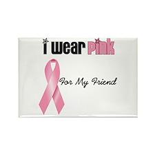 I Wear Pink (Friend) Rectangle Magnet