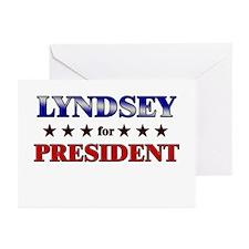 LYNDSEY for president Greeting Cards (Pk of 20)