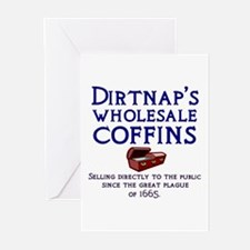 Dirtnap's Wholesale Coffins Greeting Cards (Pk of
