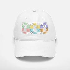 pastel sudoku Baseball Baseball Cap