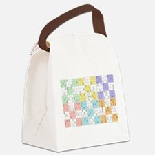 pastel sudoku Canvas Lunch Bag