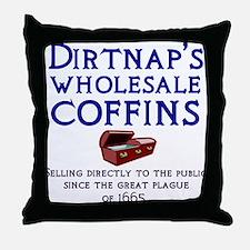 Dirtnap's Wholesale Coffins Throw Pillow