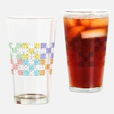pastel sudoku Drinking Glass