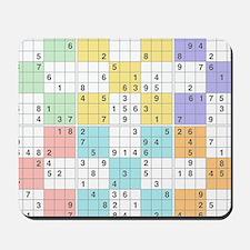 pastel sudoku Mousepad