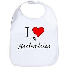 I Love My Mechanician Bib