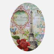 Paris Journal Oval Ornament