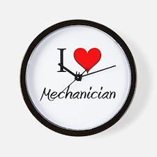 I Love My Mechanician Wall Clock