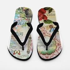 Paris Journal Flip Flops