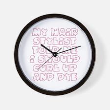 Cute Curlers Wall Clock