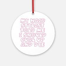 Cute Curl Round Ornament