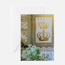 Golden Paris Greeting Cards