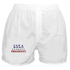 LYLA for president Boxer Shorts