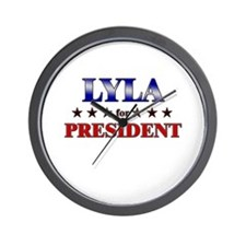 LYLA for president Wall Clock